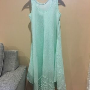 Eileen Fisher linen mint green shift!